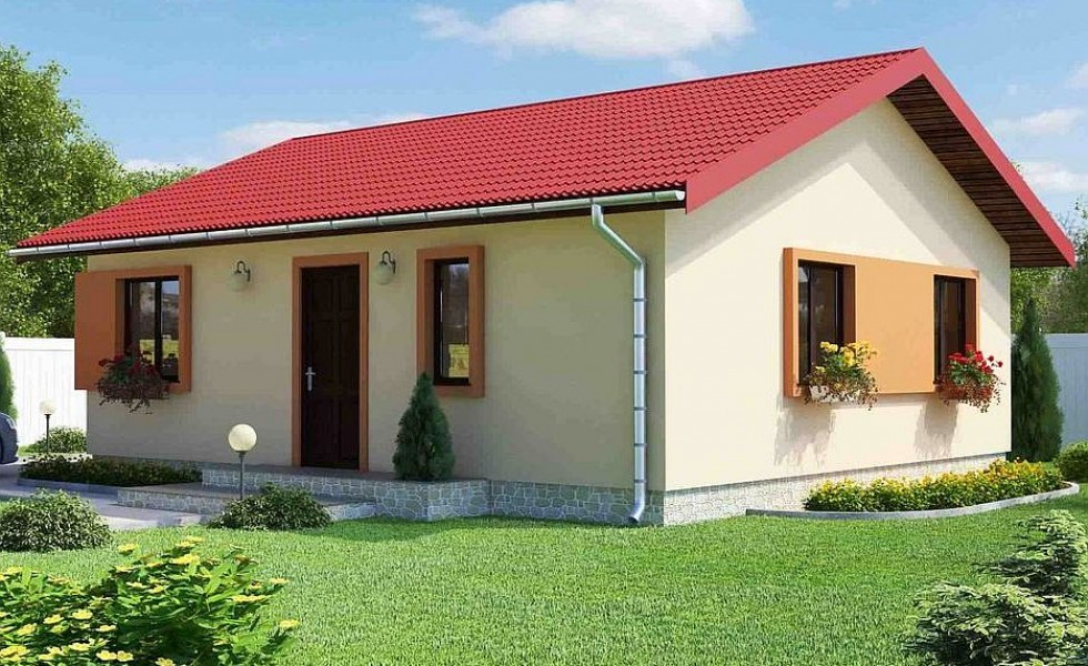 60 70 square meter house plans houz buzz. Black Bedroom Furniture Sets. Home Design Ideas