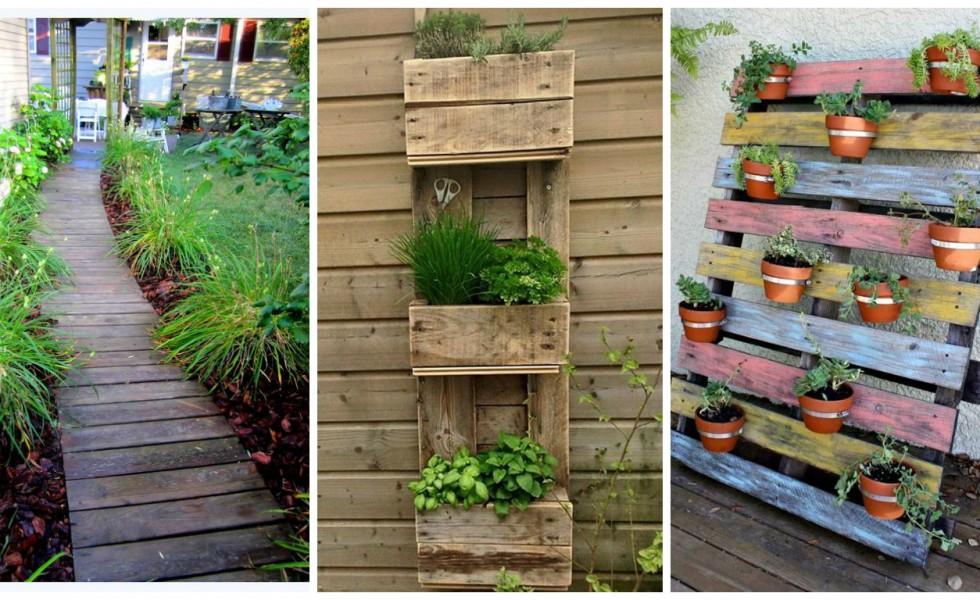 Garden Pallet Projects Diverse Ideas For An Authentic Landscape
