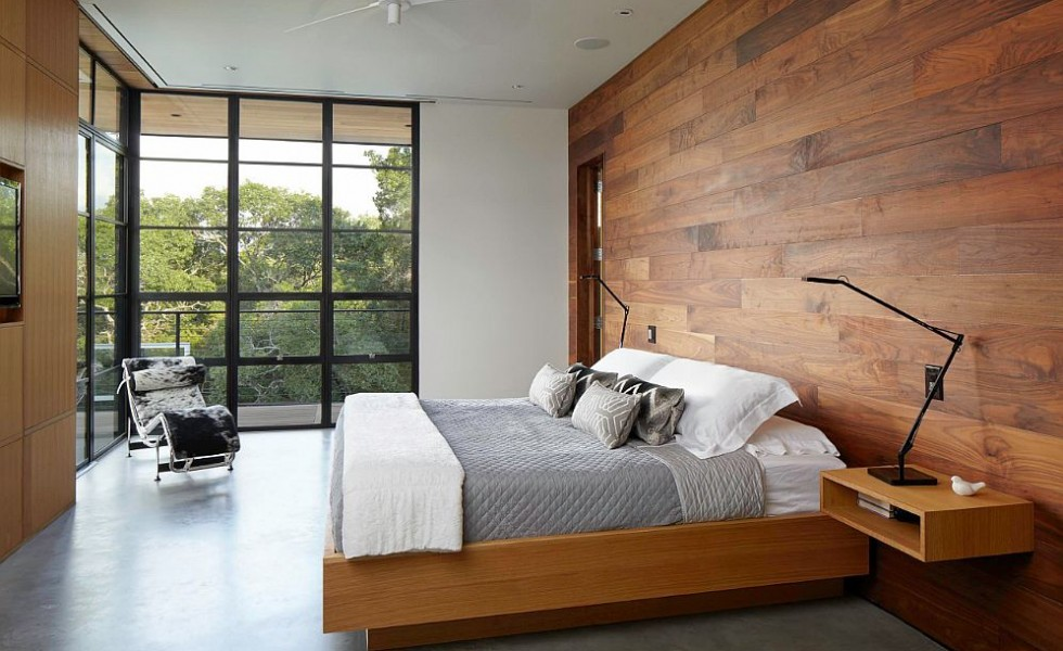 We Usually Ociate Wood Panel Walls With A Clic Decor Vintage Feel But The Dressed In Can Bring Fresh Notes Into Modern Décor As