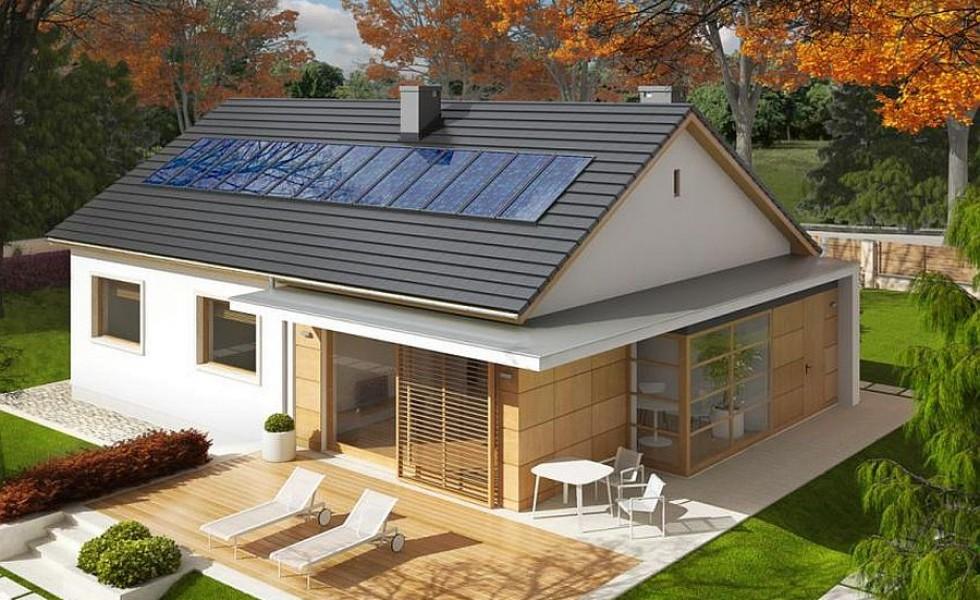 Proiecte de case cu parter si finisaje exterioare din lemn Single floor houses with exterior wood finishes