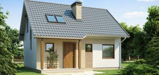 simple mansard roof houses
