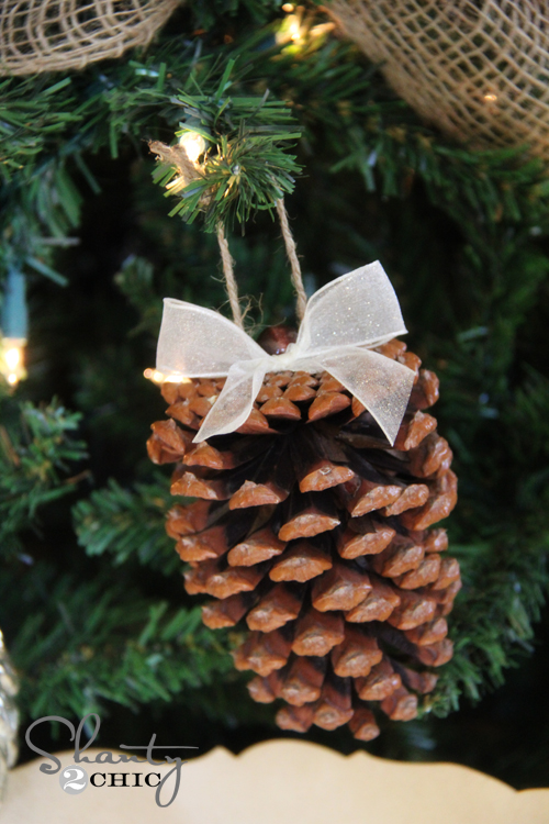 Crafty Winter Decorations With Pine Cones Tree 3
