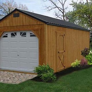 how to build a garage cheaply