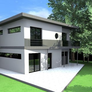 wooden cube house plans