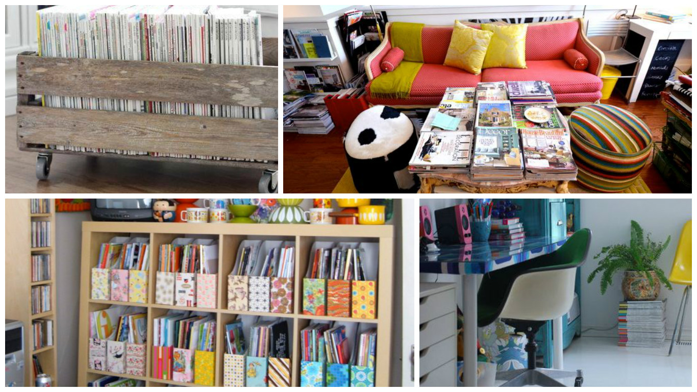Creative Ways To Store Your Magazines. Make A Nice Display