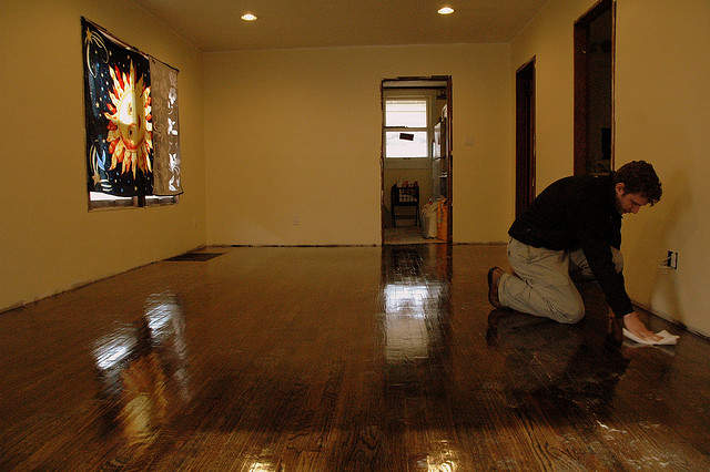 how to make wood floors shiny again