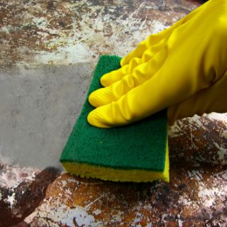 how to clean burnt-on grease