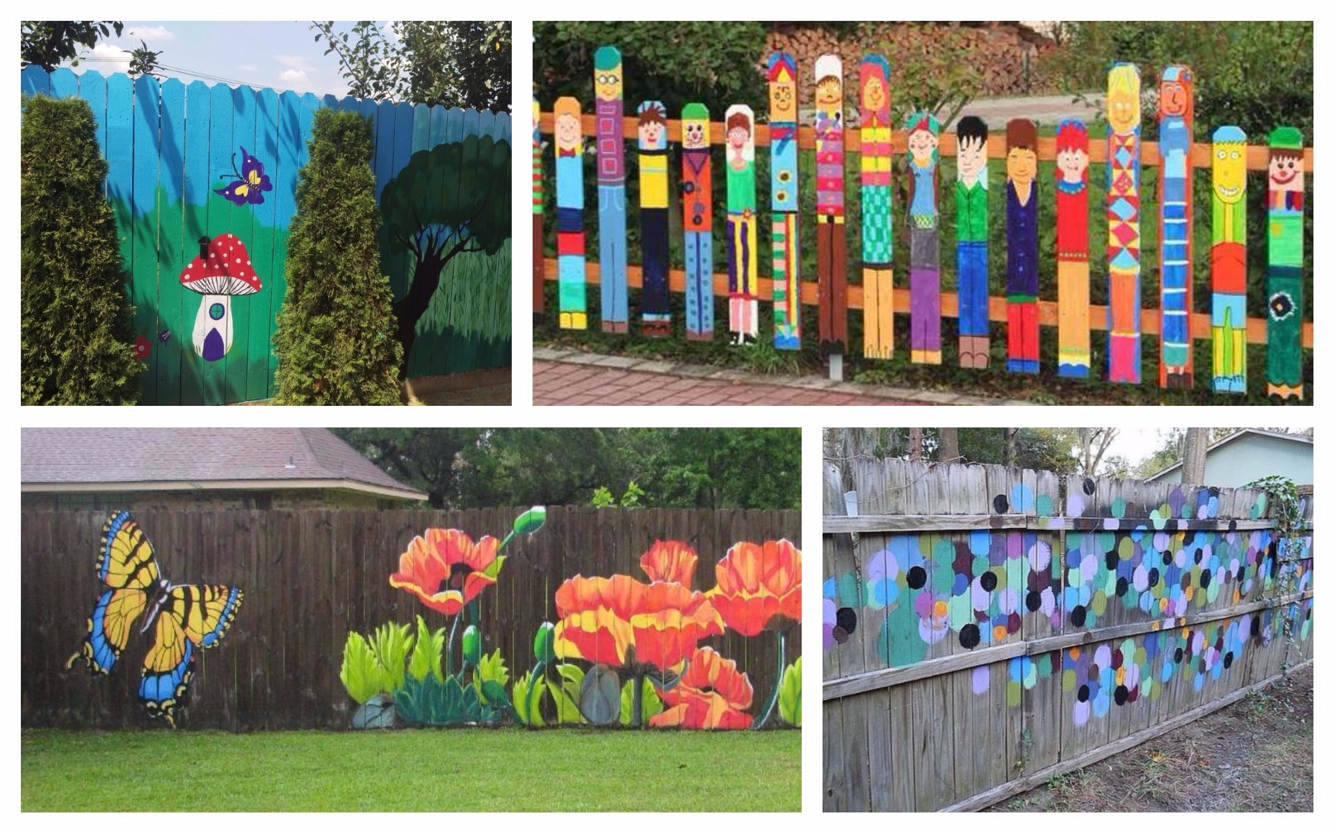 Advice And Ideas For Painting Your Fence Wrap Your Garden In Fantasy