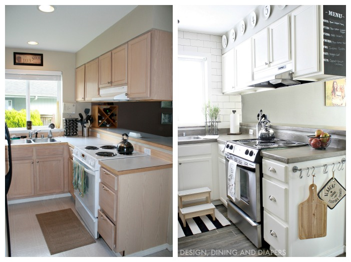 10 Spectacular Before and After Kitchen Makeovers Photos ...